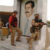 2003 Apr - Basra after entering Iraq with British troops after the US-led coalition to oust Saddam Hussein
